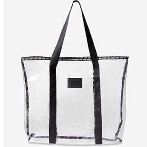 VS PINK clear travel tote